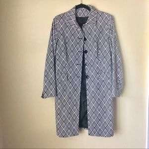 Jackets & Blazers - Vintage Black and White Trench Coat